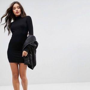 ASOS Long Sleeve Turtleneck Bodycon Mini Dress
